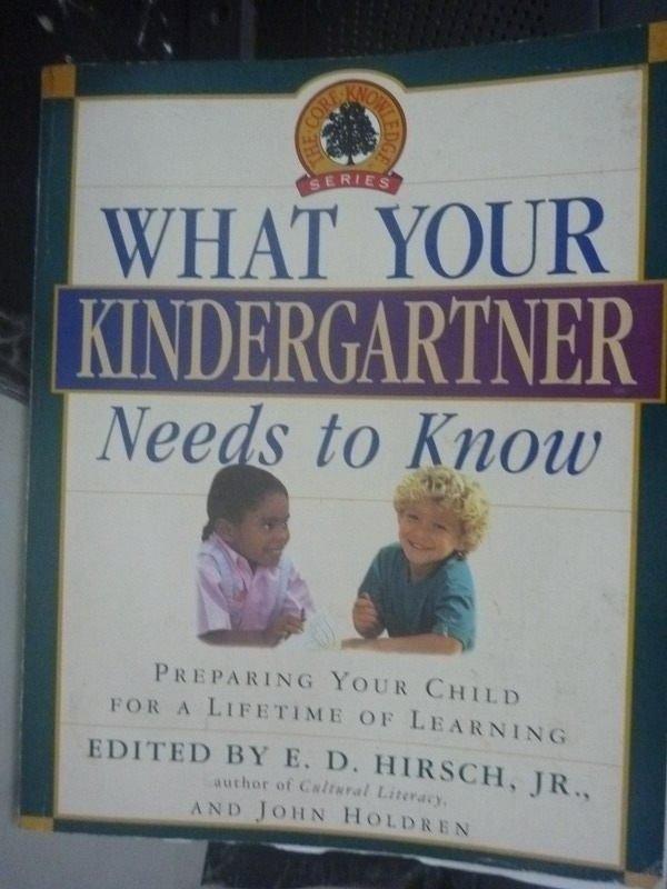 【書寶二手書T9/家庭_ZGZ】What Your Kindergartner Needs