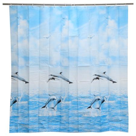 浴簾 PEVA海豚 H-229 180x180cm