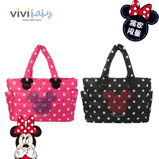 ViViBaby - Disney迪士尼空氣媽媽包 -大側背 加贈小後背防走失包一只!