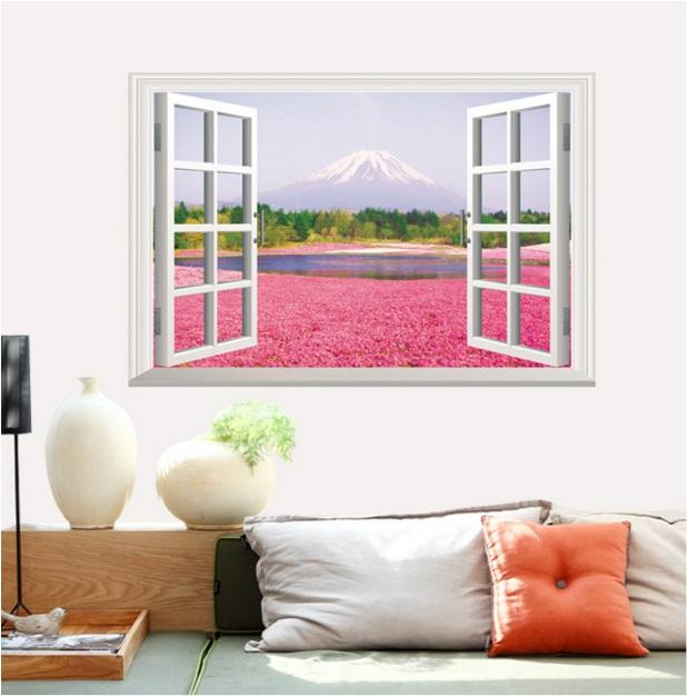 【壁貼王國】 窗景系列無痕壁貼 《富士山 - AY9234 A》