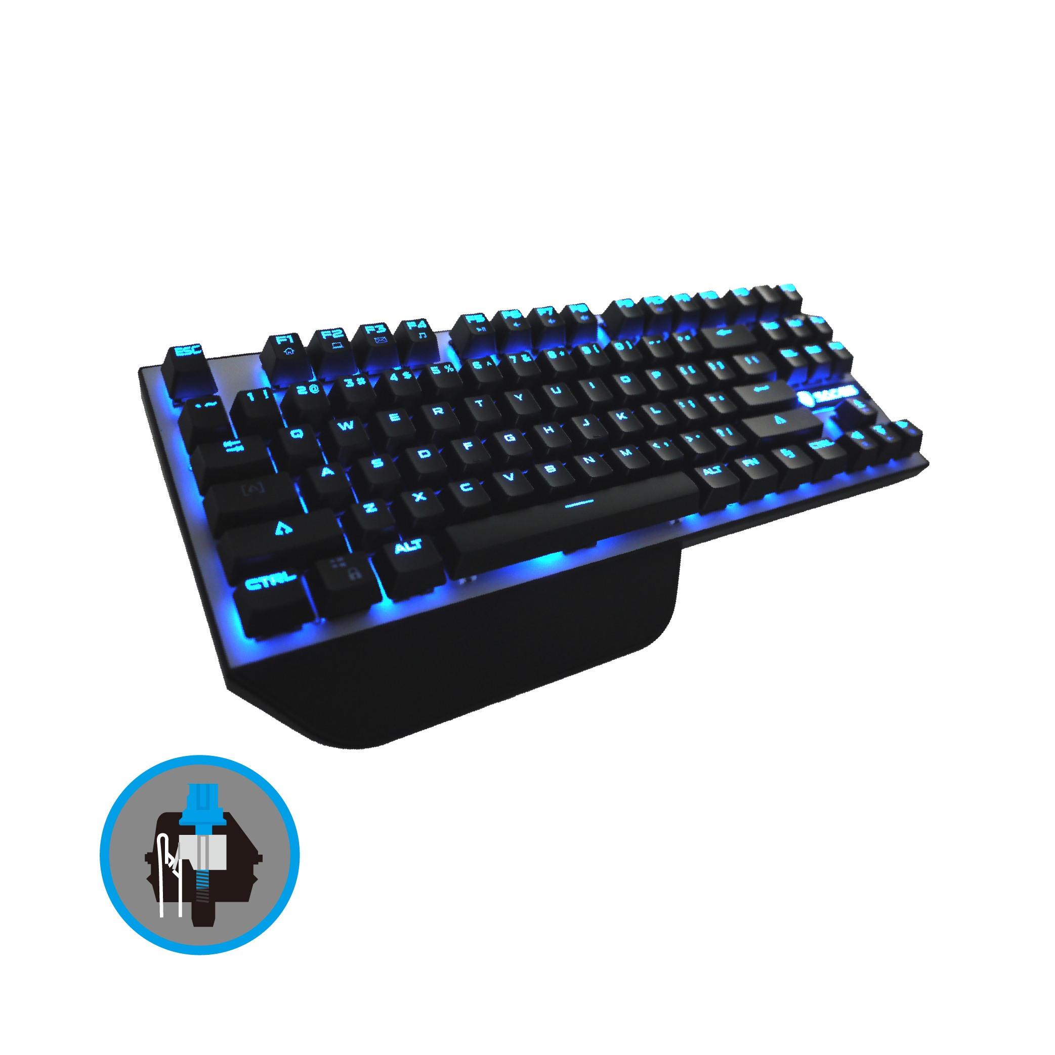 【迪特軍3C】立光代理 SADES 賽德斯 Karambit 狼爪刀 機械式鍵盤 青軸 國際英文版