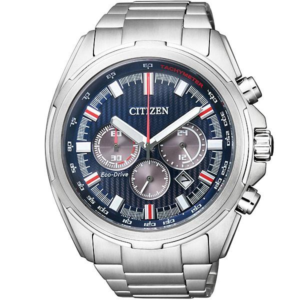CITIZEN星辰CA4220-55L紳士質感光動能計時碼表/藍面45mm