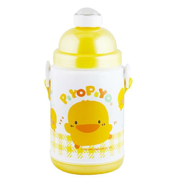 『121婦嬰用品館』黃色小鴨 彈跳保溫保冷水壺 375ml