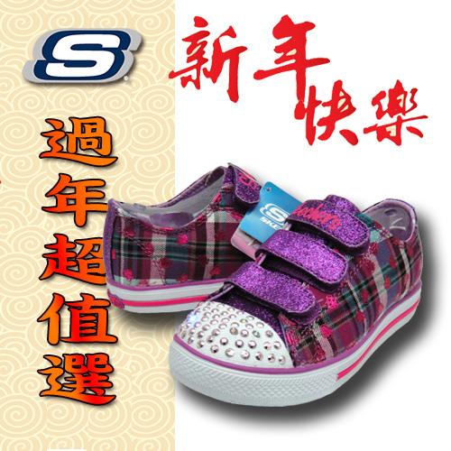 SKECHERS 女童鞋 燈鞋 記憶鞋墊 , 10507LPRMT; 蝴蝶魚戶外用品