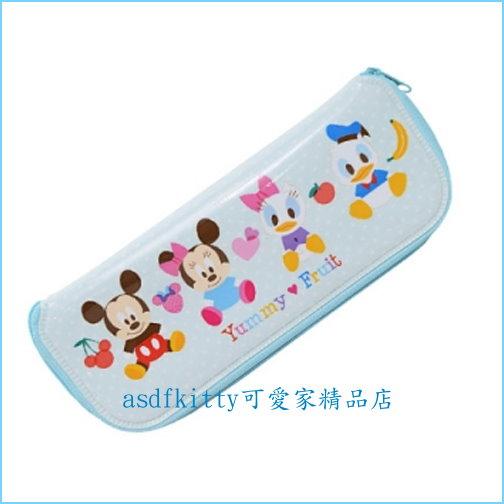 asdfkitty可愛家☆米奇米妮唐老鴨L號防水環保餐具袋/筆袋/收納袋-韓國製