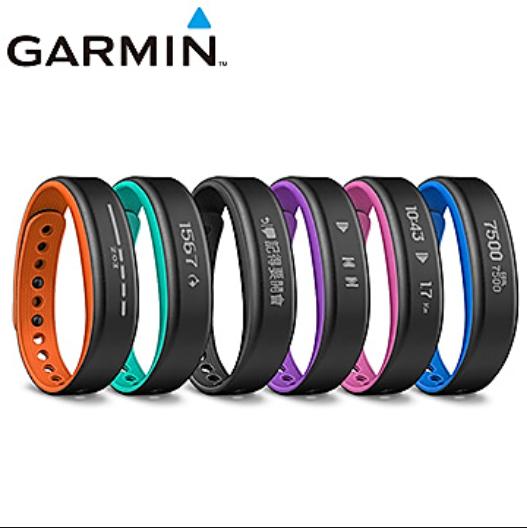 GARMIN vívosmart® 智慧運動健身手環 提供黑色/藍綠色/藍色/橘色/紫色五色 ★小:12.7-17.2cm/大:15.5-22.1cm