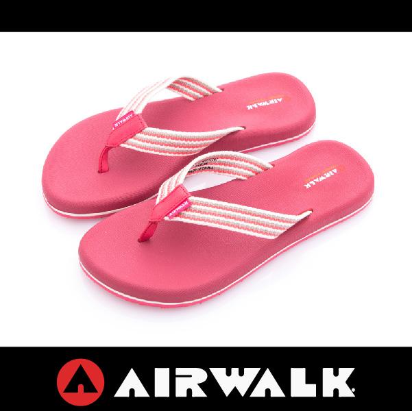 萬特戶外運動-AIRWALK A612220242 女夾腳拖鞋 記憶鞋墊 柔軟舒適 回彈 足底紓壓 粉紅色