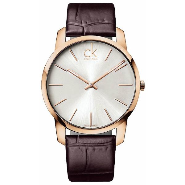 CK CITY(K2G21629)城市經典玫瑰金簡約腕錶/白面43mm