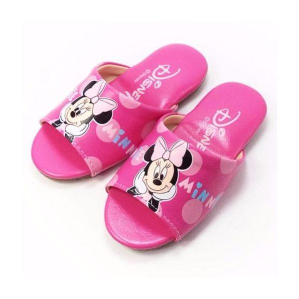 EMMA商城~Disney 迪士尼桃色米妮室內童拖鞋(台灣製造)