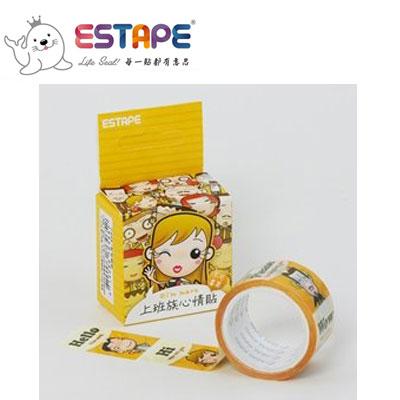 王佳膠帶 ESTAPE 馬克直拉式系列PM2537X上班族心情貼/ 盒