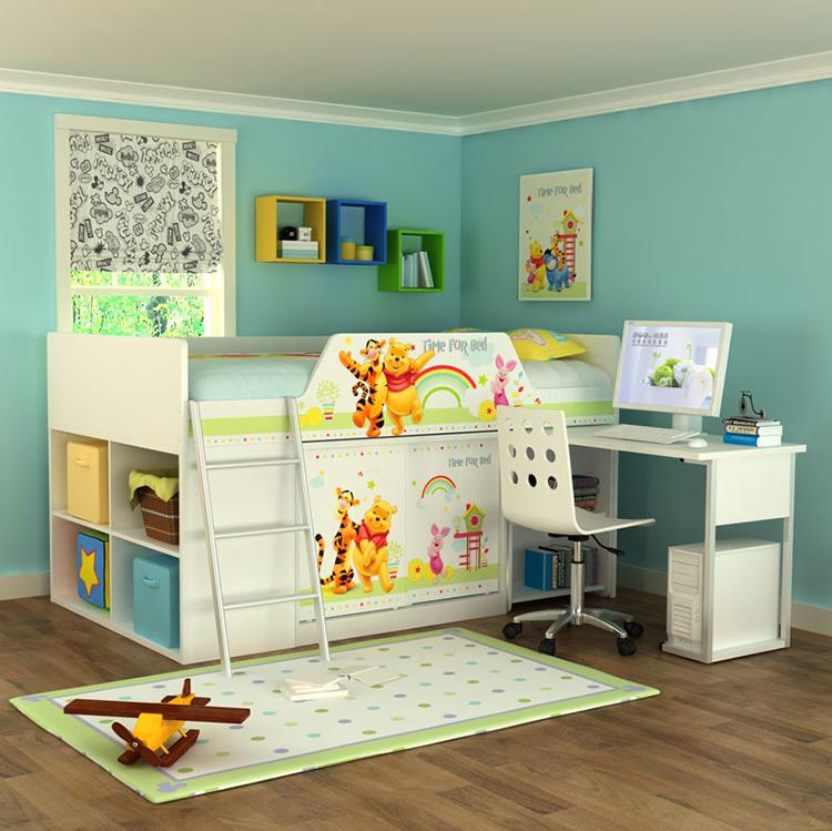 [首雅傢俬]維尼 拼拼樂園 半高床架 功能床 造型床 單人 收納  超低優惠!