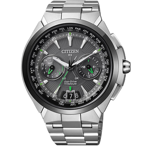 CITIZEN星辰CC1086-50E旗艦鈦金屬衛星對時光動能腕錶/黑面48mm