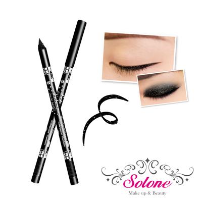 Solone 玩色派對閃閃惹人愛眼線筆-01星鑽黑
