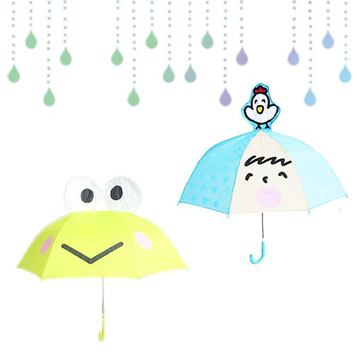 大田倉 日本進口正版三麗鷗 大寶 大眼蛙 造型直傘 雨具 帶耳直傘 造型傘 兒童傘 安全雨傘 卡通傘