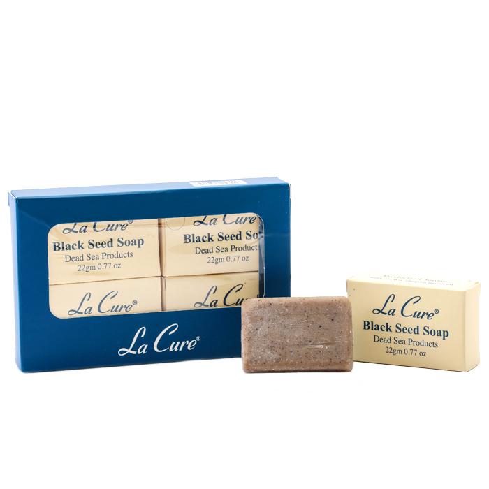 La Cure【藍琪兒】Dead Sea 礦物黑籽皂(小皂組22g個/一組4個)
