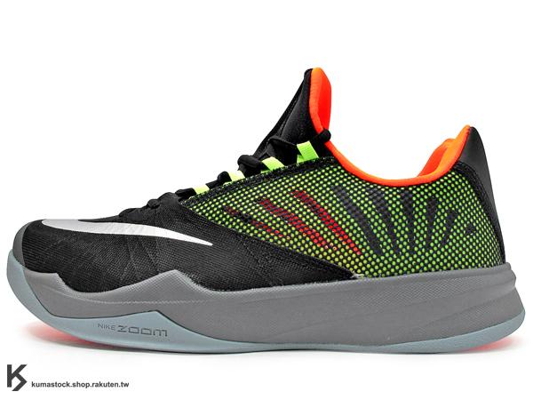 2014 NBA 休士頓 火箭隊 大鬍子 James Harden 最新代言鞋款 NIKE ZOOM RUN THE ONE EP 低筒 黑灰螢光黃橘 襪套式內靴 HYPERFUSE 鞋面科技 前 ZOOM AIR 氣墊 耐磨橡膠外底  監視器 (683247-081) !