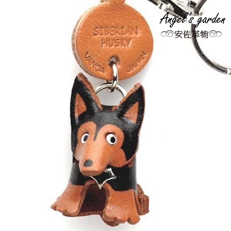 【安佐革物】哈士奇 日本真牛皮 手工小吊飾禮物 鑰匙圈 【Angel's garden 】 56761 Siberian Husky