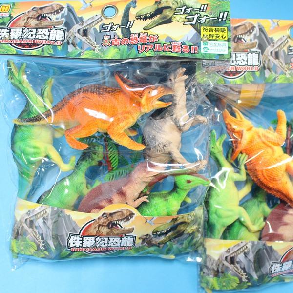 恐龍公仔 侏儸紀恐龍玩具 東匯T922 仿真恐龍模型(6隻入)/一袋入{促150}~首 ST安全玩具