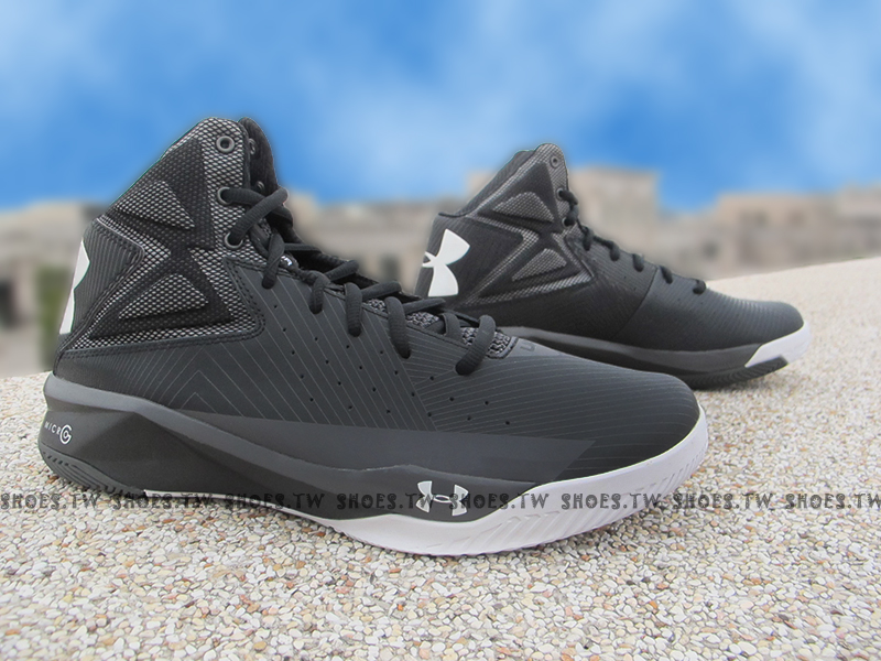 出清6折 [28.5CM] Shoestw【1264224-001】UNDER ARMOUR UA 籃球鞋 黑白 CURRY SC30