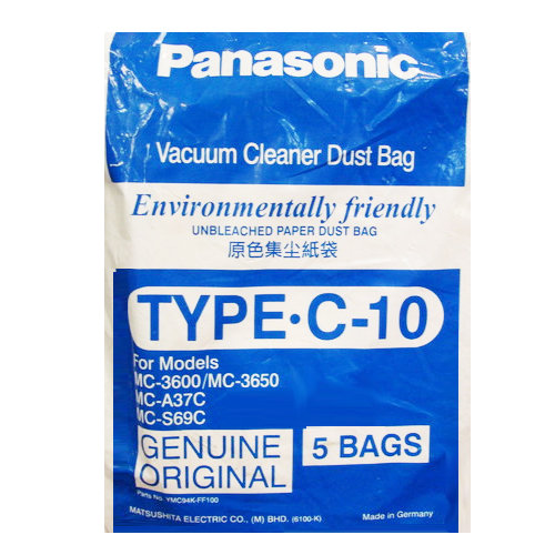 Panasonic 國際 集塵紙袋 TYPE-C10 吸塵器專用集塵紙袋 5入