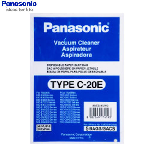 Panasonic 國際 集塵紙袋 TYPE-C20E 吸塵器專用集塵紙袋 5入