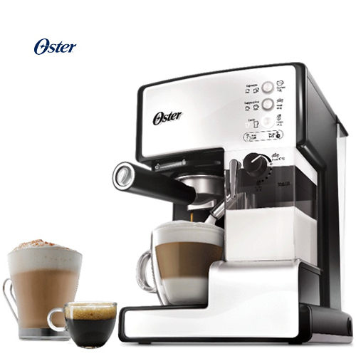 OSTER 美國  奶泡大師 義式咖啡機 BVSTEM6601 雪白 買就送TIAMO白瓷咖啡杯組