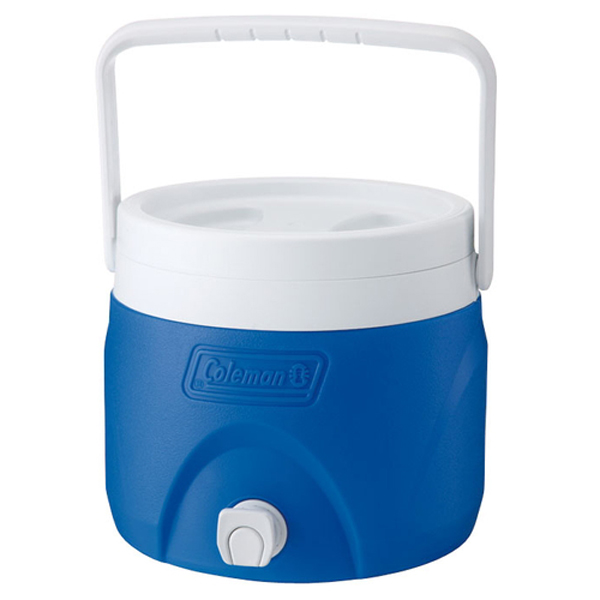 【鄉野情戶外專業】 Coleman  美國   7.6L 置物型飲料桶/冰桶 保鮮桶 保冰箱-藍/CM-1363JM000