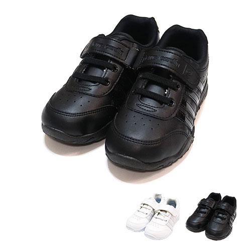 【錢豪童裝童鞋】皮爾卡登pierre cardin全黑/全白休閒鞋(19~24號)