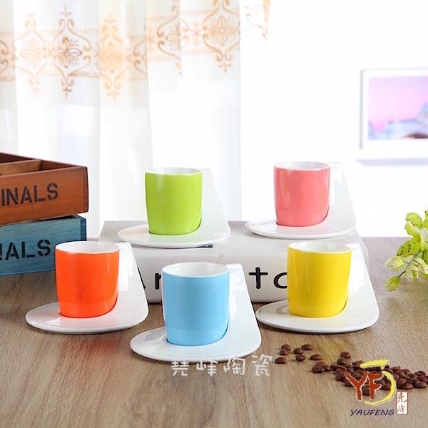 ★堯峰陶瓷★精選 馬卡龍 時尚個性咖啡杯 咖啡杯碟