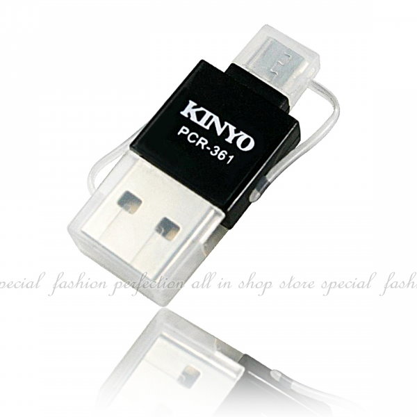 雙介面OTG迷你讀卡機PCR-361 micro USB 可讀取 micro SD 支援Android手機【DB276】◎123便利屋◎