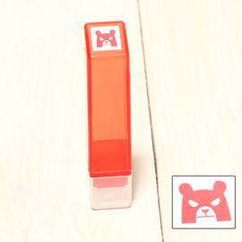 「Kodomo小孩牌」手帳小印章 - 344熊熊怒怒(紅)