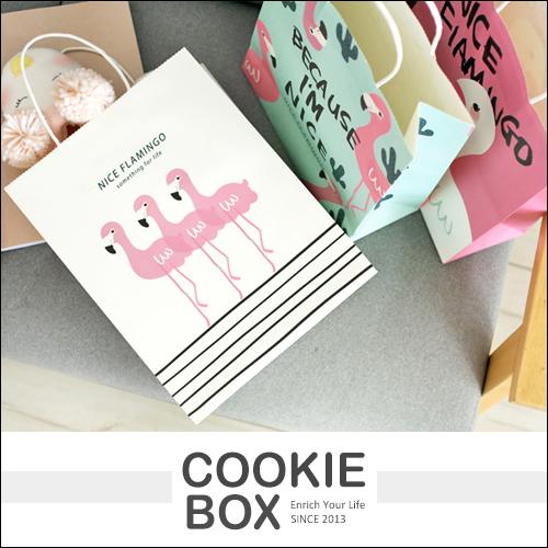 Nice 紅鶴 禮品袋 火鶴 購物袋 紙袋 手提袋 送禮 包裝 精緻 instagram 拍照 小物 *餅乾盒子*