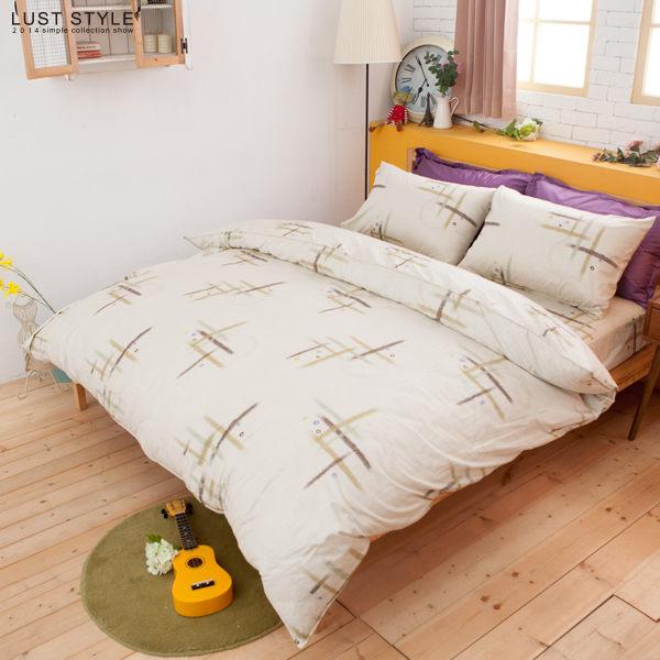 LUST生活寢具【義式鄉村】100%精梳純棉、加大6尺床包/枕套組 【台灣製】