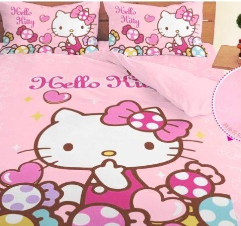 LUST寢具 【Hello Kitty 彩虹糖樂園-粉】單人薄被套4.5X6.5尺、日本卡通授權、台灣製