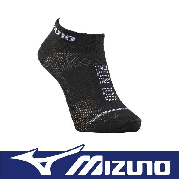 萬特戶外運動 MIZUNO 美津濃 D2TX610191 男運動薄底裸襪QMAX 透氣 涼感 吸濕排汗 耐洗 舒適 黑+白色