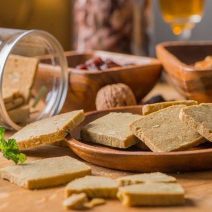 【爵拉斐】 南瓜子薰衣草脆餅(蛋奶素) 每罐約140g 密封罐裝