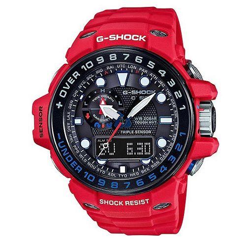 CASIO G-SHOCK GWN-1000RD-4ADR陸海空防泥概念電波腕錶/56.1mm