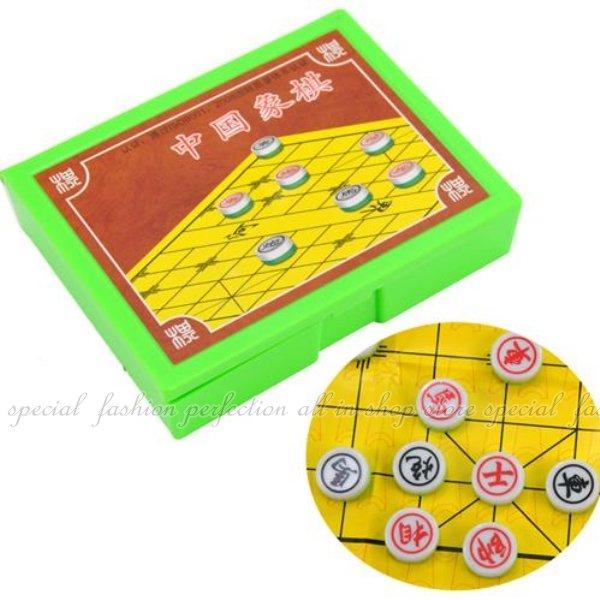彩色盒裝象棋 兒童遊戲棋 攜帶式塑膠象棋【DF496】◎123便利屋◎