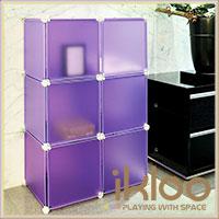 【ikloo】diy家具6格6門收納櫃/組合櫃