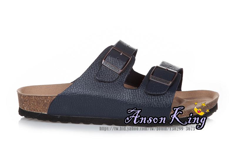 [Anson King]Outlet正品代購  birkenstock Arizona系列 男女款 懶人涼拖鞋 深藍裂紋