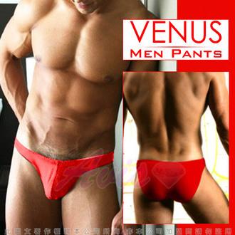 情趣用品VENUS 低腰摩登素色三角褲 魅力紅