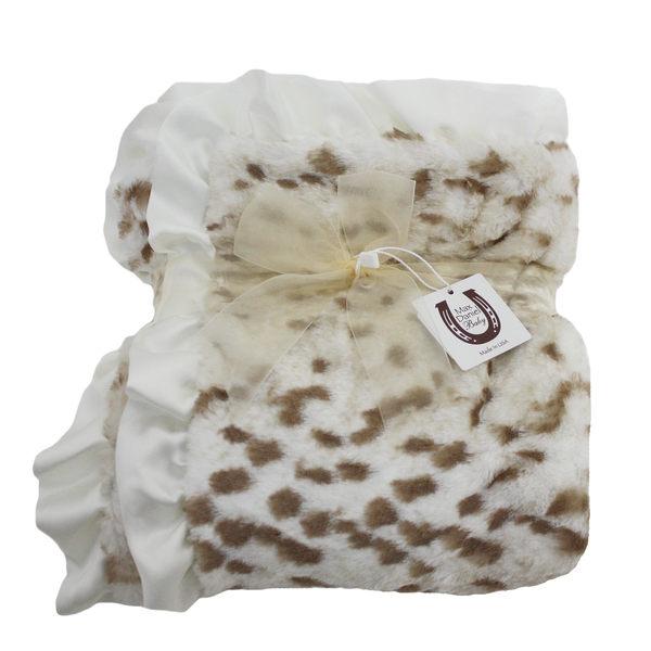 Max daniel 頂級攜帶動物花紋寶寶毯/嬰兒被 【雪豹】