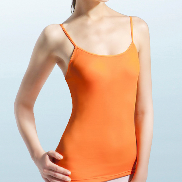 【MIGER密格內衣】BRA IN抗UV細肩帶背心-亮眼橘-台灣製-(編號:G3853)