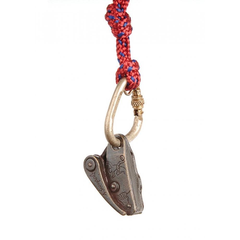 ├登山樂┤義大利 Sampaoli Andrea Creazioni  青銅鑰匙圈掛飾 鉤環+GRIGRI#39