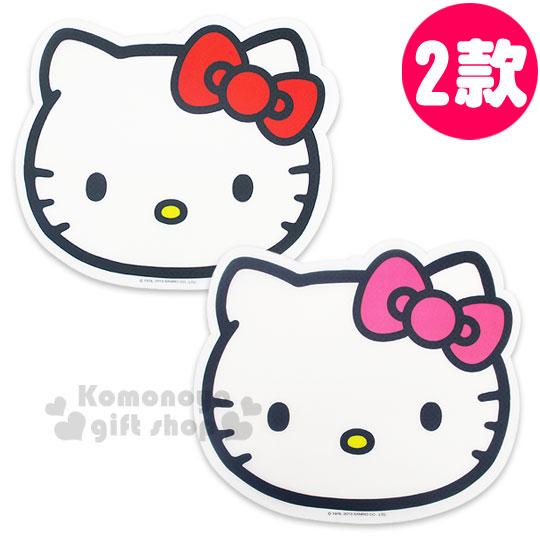 〔小禮堂〕Hello Kitty 造型桌墊《兩款選一.白.大臉》餐墊.34.7x29.5cm