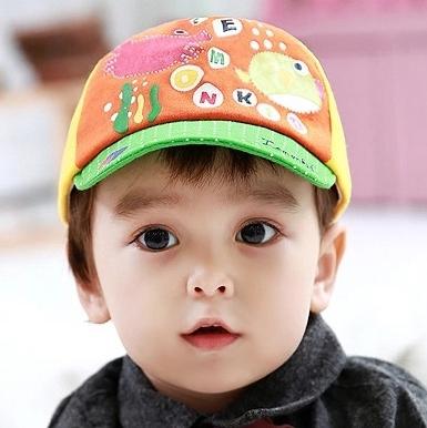 Lemonkid◆可愛童趣海底總動員螃蟹河豚卡通造型兒童鴨舌帽-綠色