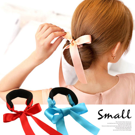 緞帶蝴蝶結盤髮器 (小款) 丸子頭 包包頭 頭飾 髮飾 髮帶 髮圈 髮束 盤髮器【N100618】