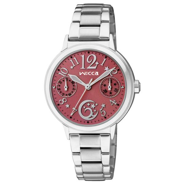 CITIZEN星辰WICCA(KB1-015-93)台灣限定星月戀人腕錶/紅面30mm