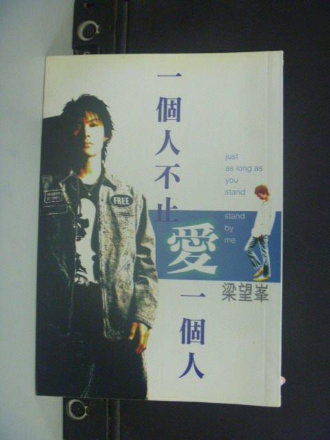 【書寶二手書T2/言情小說_GSL】一個人不止愛一個人_梁望峰.