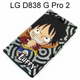 海賊王側翻支架皮套 [R03] LG D838 G Pro 2 航海王 魯夫【台灣正版授權】